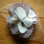 Mother of the bride headpiece headdress flower handmade fascinator wedding hair accessory birdcage veil hairclip