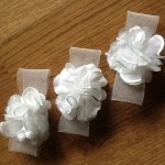 Wedding hair accessories for flower girls headdress headpiece hairclip hair accessories white handmade